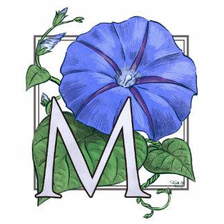 Monograma de la flor de la correhuela fotoescultura vertical