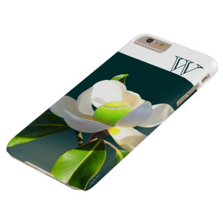 Monograma de la flor de la magnolia del tenis funda barely there iPhone 6 plus