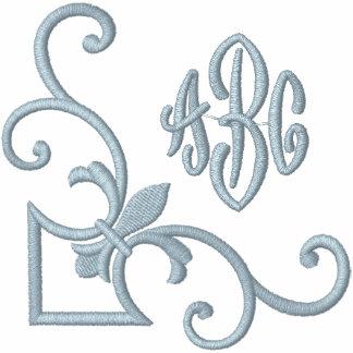 Monograma de la flor de lis sudadera bordada con serigrafía