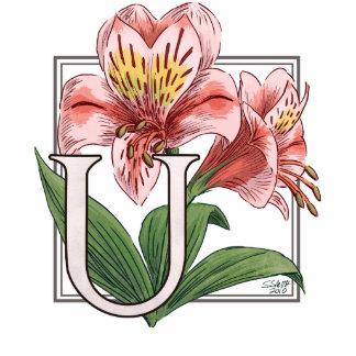 Monograma de la flor de Ulster Maria Fotoescultura Vertical