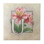 Monograma de la flor de Ulster Maria Teja Cerámica