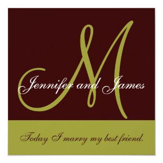 Monograma de la invitación del boda que dice a
