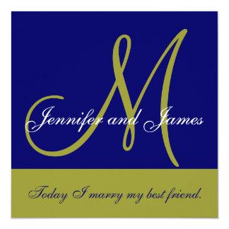 Monograma de la invitación del boda que dice a la