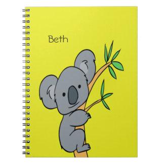 Monograma de la koala cuaderno