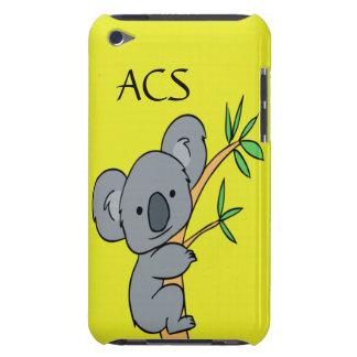 Monograma de la koala funda para iPod
