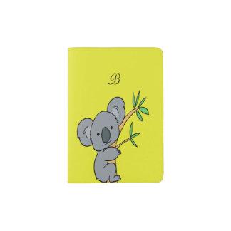 Monograma de la koala porta pasaportes