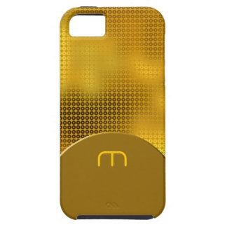 Monograma de la lentejuela del oro iPhone 5 Case-Mate protector