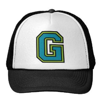 """Monograma de la letra """"G"""" Gorro De Camionero"""