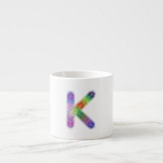Monograma de la letra K del fractal Taza De Espresso