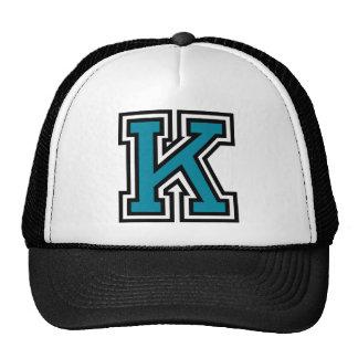"""Monograma de la letra """"K"""" Gorras"""