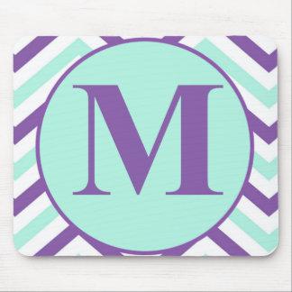 Monograma de la letra M Mouse Pads