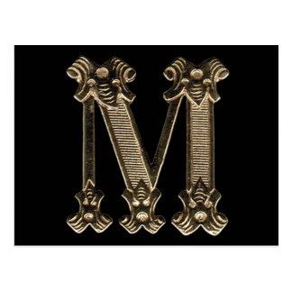 Monograma de la letra M o postal inicial