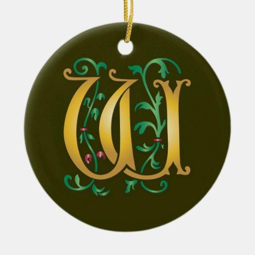 Monograma de la letra W Ornamento De Reyes Magos