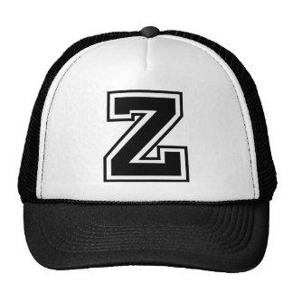 """Monograma de la letra """"Z"""" Gorras De Camionero"""