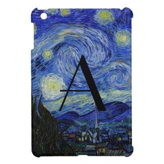 Monograma de la noche estrellada iPad mini funda