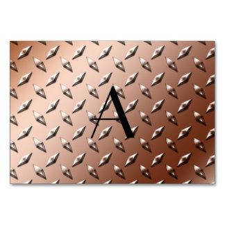 Monograma de la placa de acero del diamante de