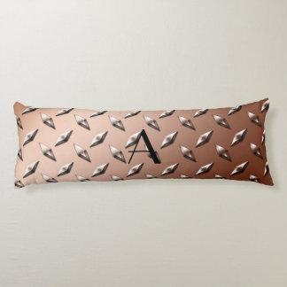 Monograma de la placa de acero del diamante de almohada de cuerpo entero
