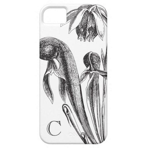 Monograma de la planta de la cobra del vintage iPhone 5 carcasa