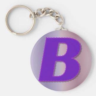 Monograma de la púrpura de B Llavero Personalizado