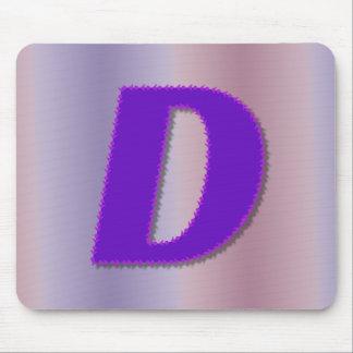 Monograma de la púrpura de D Tapetes De Raton