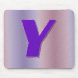 Monograma de la púrpura de Y Alfombrilla De Ratones
