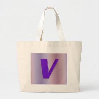 Monograma de la púrpura V Bolsas De Mano
