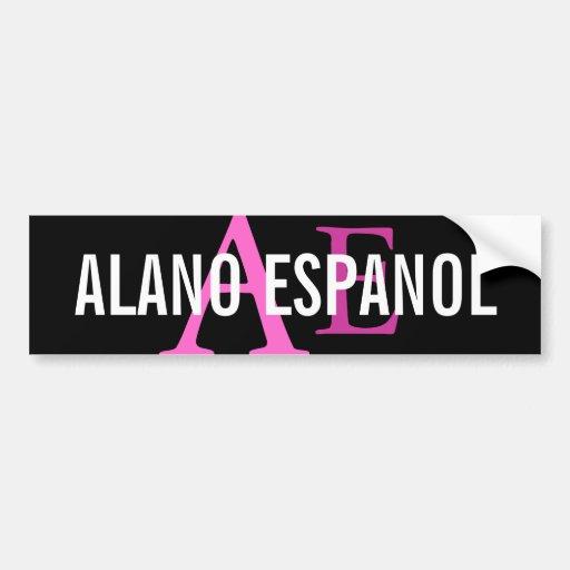 Monograma de la raza de Alano Espanol Pegatina Para Auto