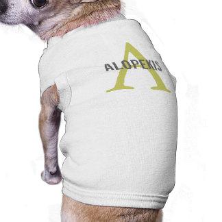 Monograma de la raza de Alopekis Camisetas De Perrito