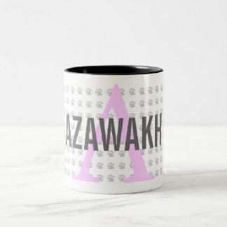 Monograma de la raza de Azawakh Taza De Dos Tonos