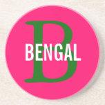 Monograma de la raza de Bengala Posavasos Para Bebidas