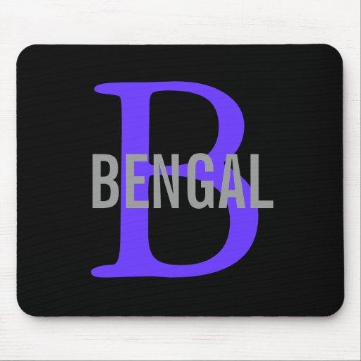 Monograma de la raza de Bengala Tapetes De Ratones