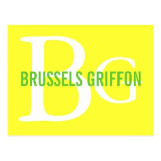 Monograma de la raza de Bruselas Griffon Postal