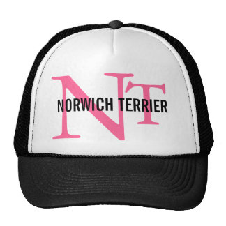 Monograma de la raza de Norwich Terrier Gorro De Camionero
