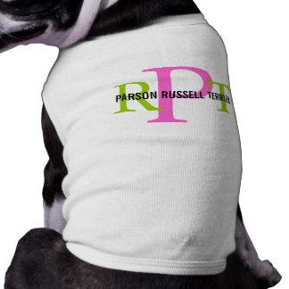 Monograma de la raza de Russell Terrier del párroc Camiseta De Perrito