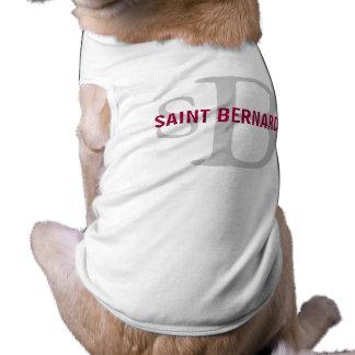 Monograma de la raza de St Bernard Ropa De Perros