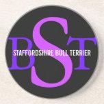 Monograma de la raza de Staffordshire bull terrier Posavasos Para Bebidas