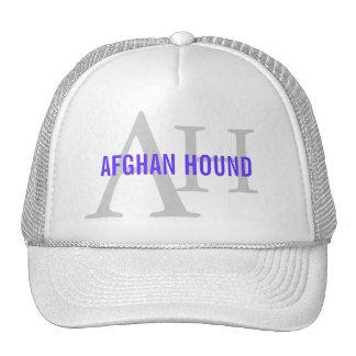 Monograma de la raza del afgano gorros bordados