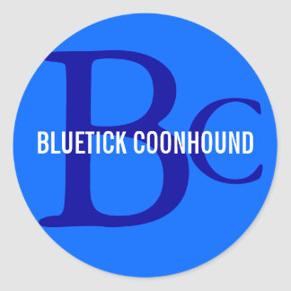 Monograma de la raza del Coonhound de Bluetick Pegatina Redonda