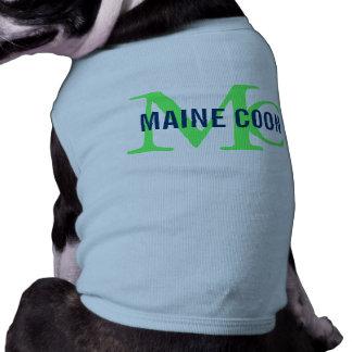 Monograma de la raza del gato de Coon de Maine Playera Sin Mangas Para Perro