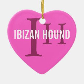Monograma de la raza del perro de Ibizan Adorno De Reyes