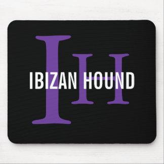 Monograma de la raza del perro de Ibizan Alfombrillas De Ratones