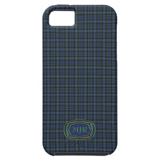 Monograma de la tela escocesa de tartán del iPhone 5 carcasas