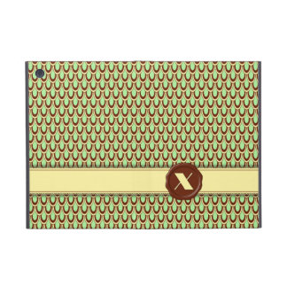 Monograma de la tienda del chocolate - concha de p iPad mini cárcasas