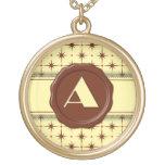 Monograma de la tienda del chocolate - estrellas d collares personalizados