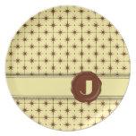 Monograma de la tienda del chocolate - estrellas d plato