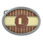 Monograma de la tienda del chocolate - raya del ch hebilla cinturón