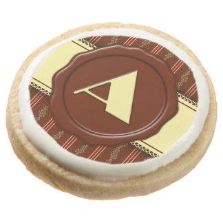 Monograma de la tienda del chocolate - rayas
