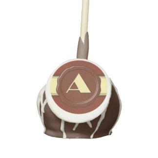 Monograma de la tienda del chocolate - rayas de la