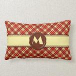 Monograma de la tienda del chocolate - tela almohada