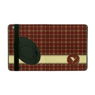 Monograma de la tienda del chocolate - tela escoce iPad protectores